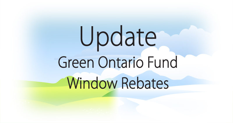 Update - Green Ontario Rebate Program