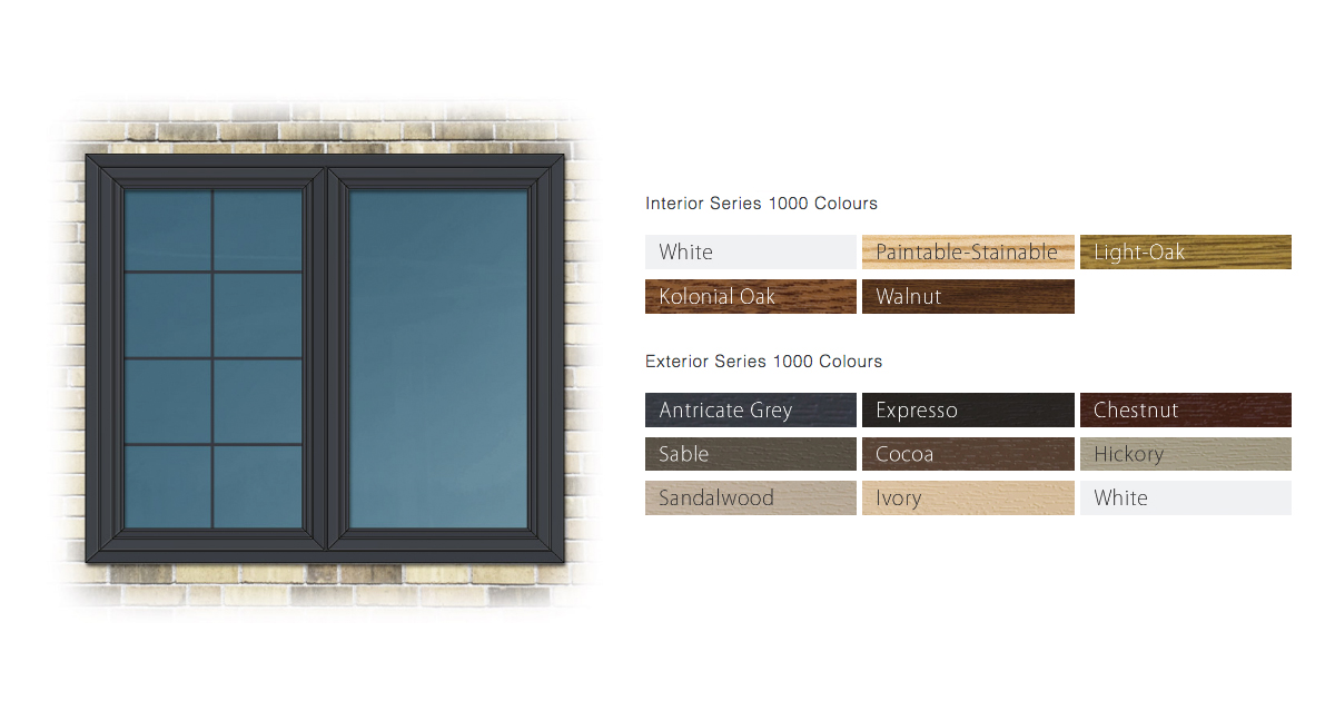 Sample from our colour options tool