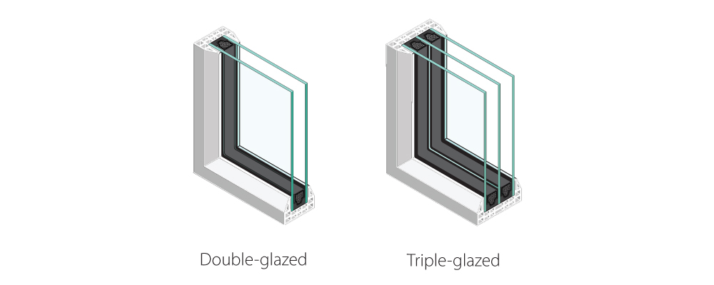Window glazing single-pane vs triple pane