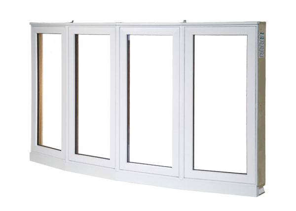 Bow window exterior with 2 picture and 2 casement windows
