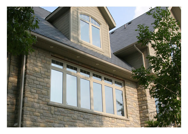 Casement windows with fixed picture and awning windows above