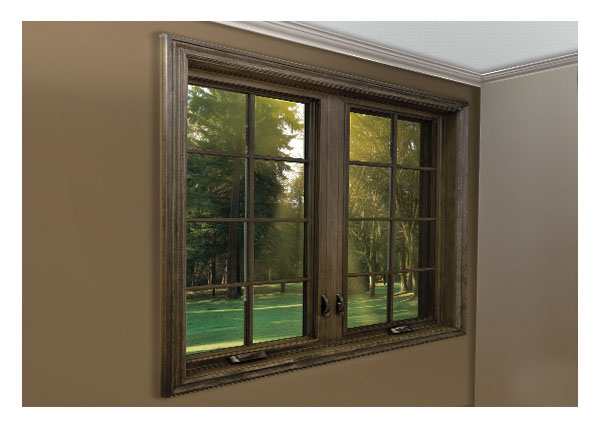 Paintable - stainable interior vinyl casement windows