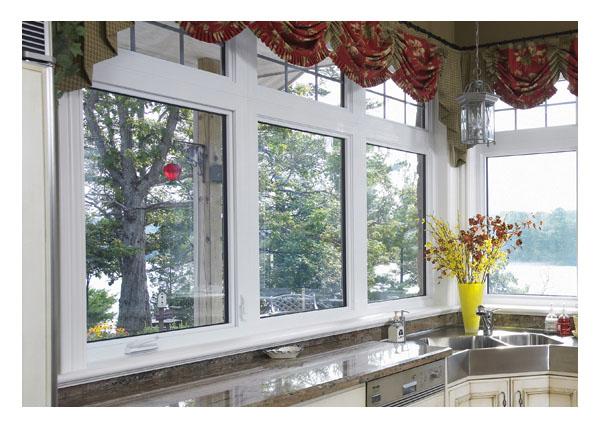 Picture windows above casement & picture windows below