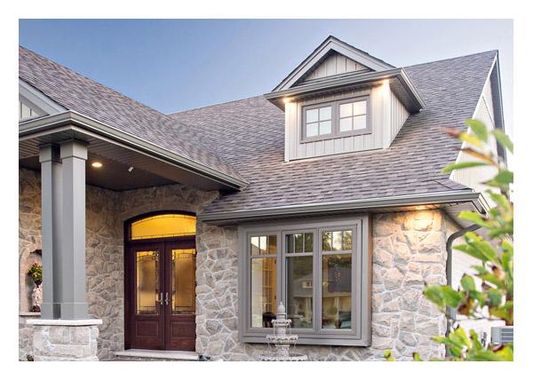 Exterior - colour casment windows