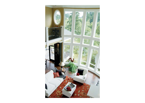 Del - Bayview bow window (2 story interior)