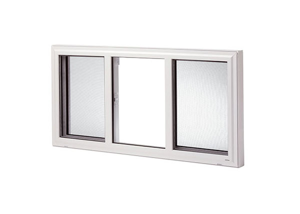 Slider window, 3 lite end