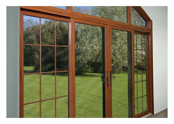 Gallery Image > North Star - simulated wood vinyl patio door interior