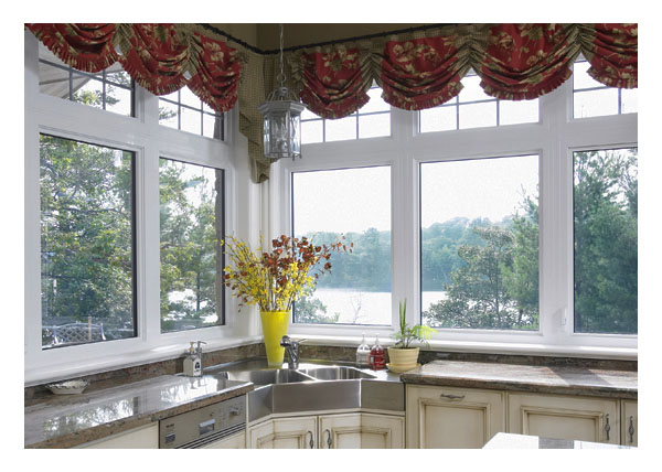 Grilled picture windows with lower picture and casement windows