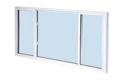 image of three-lite end vent slider window