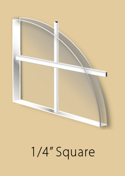 Window grill type - 1/4 inch square grill