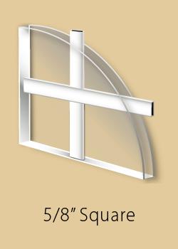 Window grill type - 5/8 inch flat