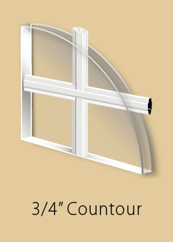 Window grill type - contoured