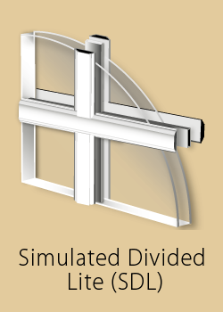 Window grill type - simulated divided lite (SDL)