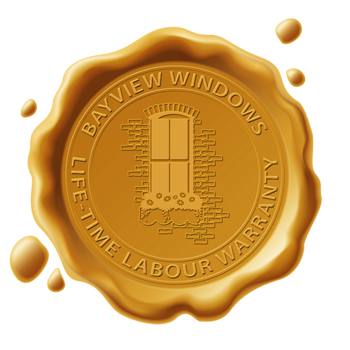 Bayview Windows Installation Warranty Stamp