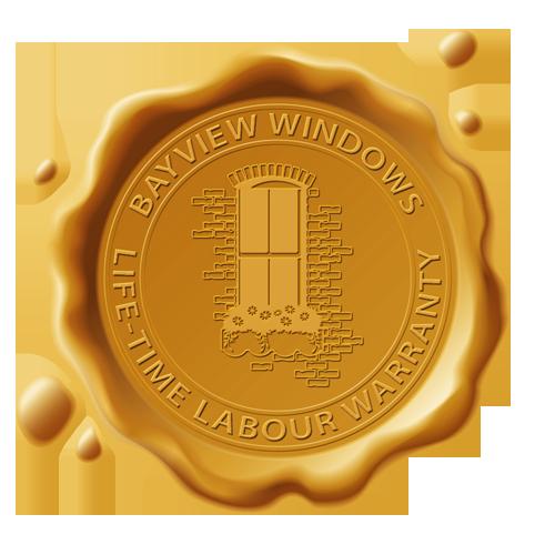Bayview Windows Installation Warranty Stamp