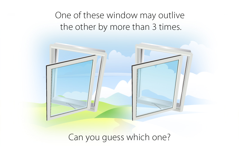 Builder grade  verses Premium grade vinyl windows - can you tell the difference?