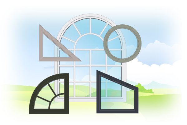 Custom-shaped windows