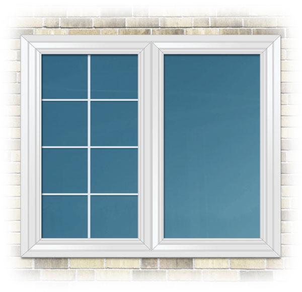 Sample colour - Exterior vinyl window colour - White