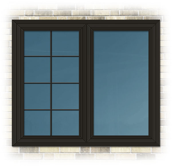 Sample colour - Exterior vinyl window colour - Expresso, available series 1000 only