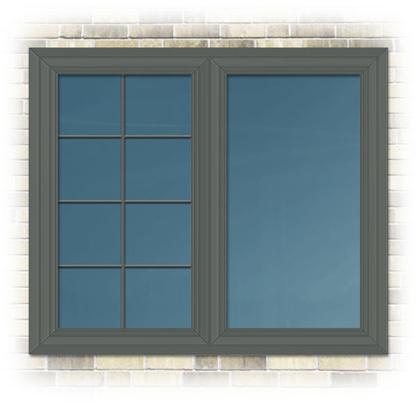 Exterior aluminium clad colour slate available on for North windows and doors