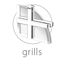 North & Del window grill types